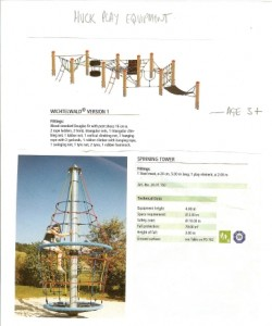 Huck play equipment